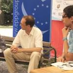 Bauer Edit, EP képviselő ésHorváth Szabolcs, EU elnökségi és koordinációs főosztály tanácsadója