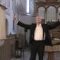 Reiter István hegedűművész a református templomban