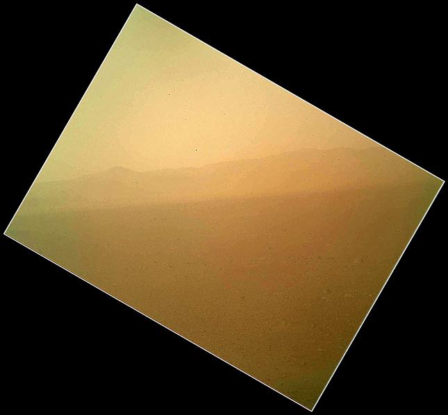 A Curiosity első színes felvétele (NASA, JPL-MSSS)