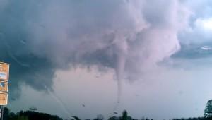 Tornado in der Nähe von Rampe