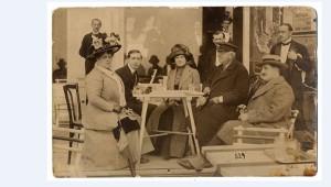 Blaha Lujza, Solti Dezső, Solti Hermin, Újházi Ede, egy ismeretlen, 1911