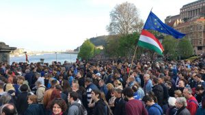 CEU tüntetés Budapest 2017-4-9