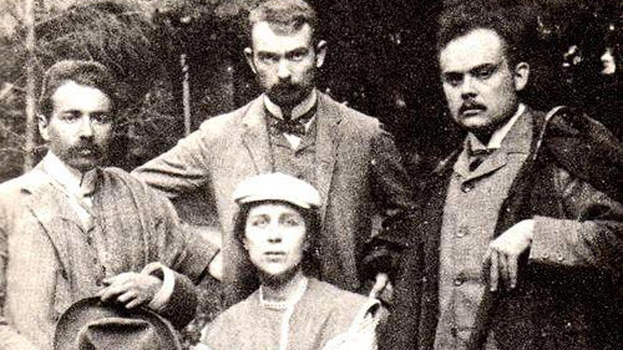 Szabó Ervin, Dienes Pál, Jászi Oszkár és Dienes Valéria