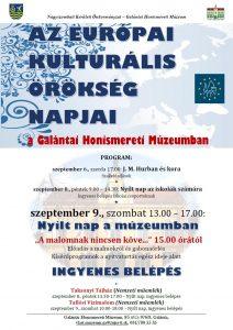 plakát Európai Kulturális Örökség Napok