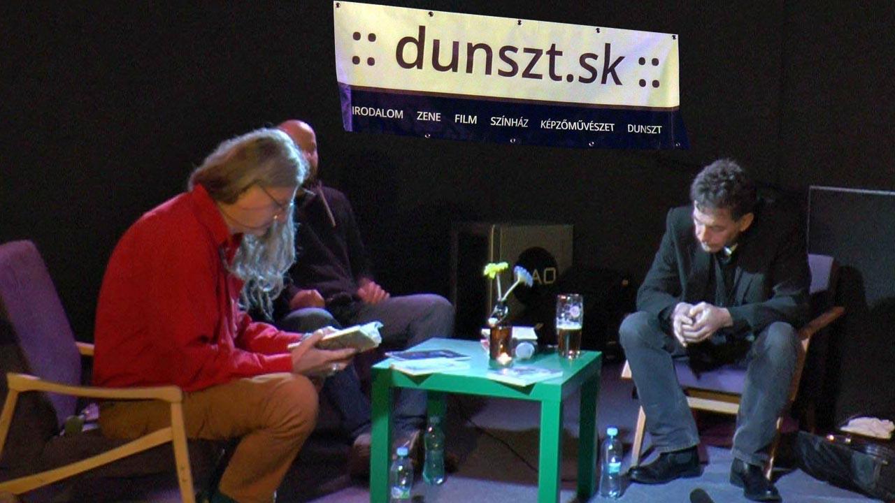 Gyukics Gábor költő, műfordító és Ágoston Béla jazz-zenész