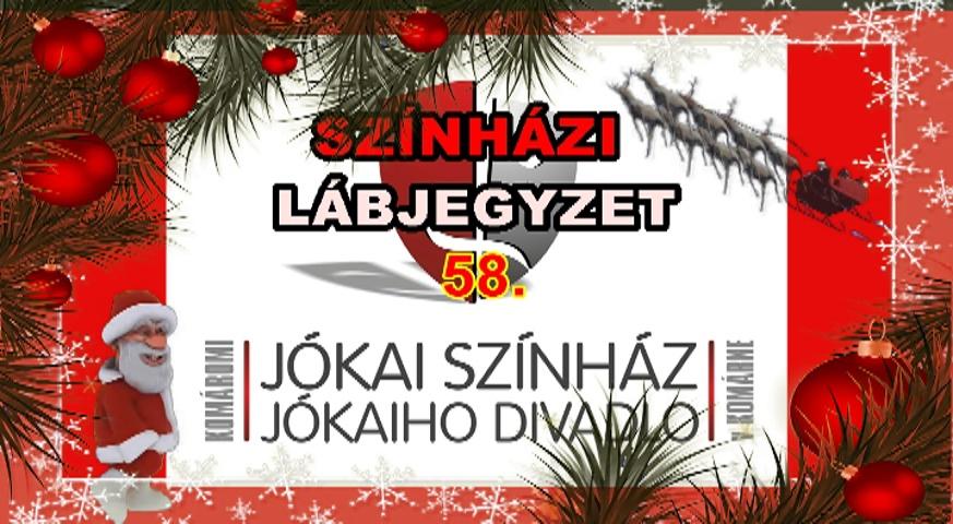 Színházi Lábjegyzet 58. - Komáromi Jókai Színház - borító