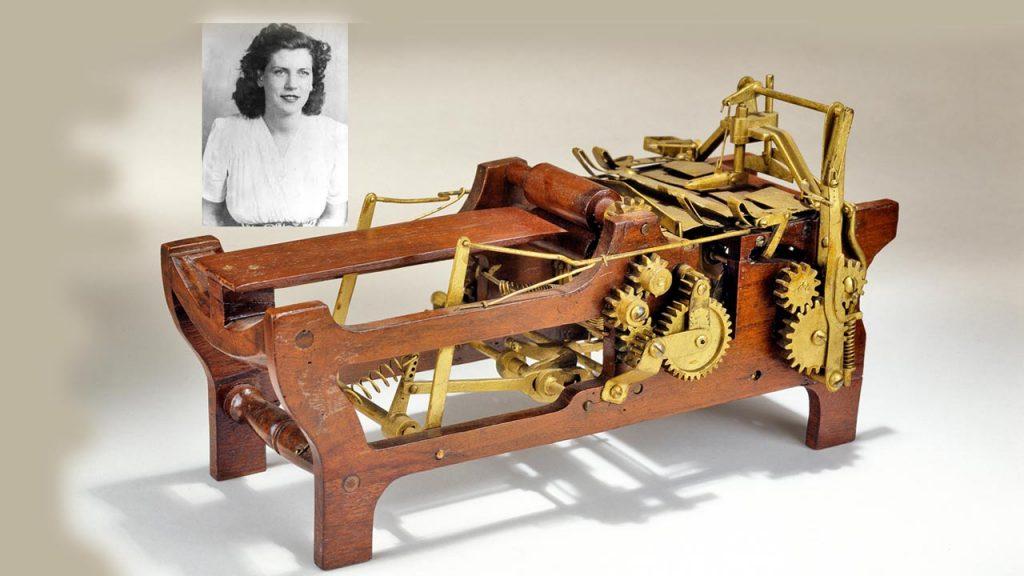 Margaret Knight papírhajtogató gépe