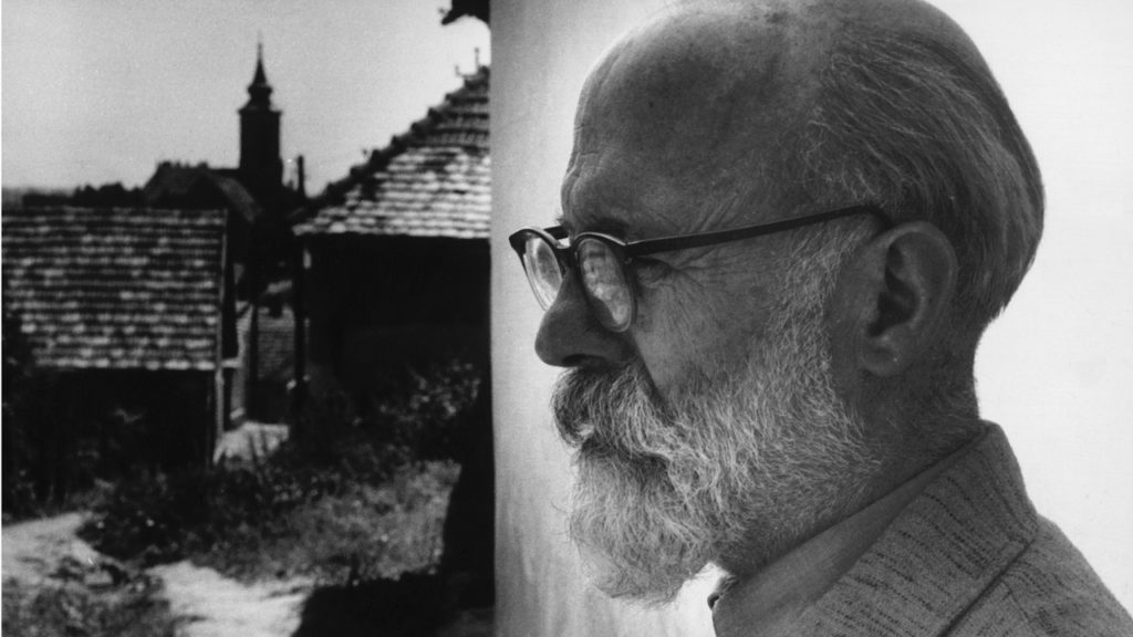 Barcsay Jenő Szentendrén, 1970-es évek Fotó: Féner Tamás