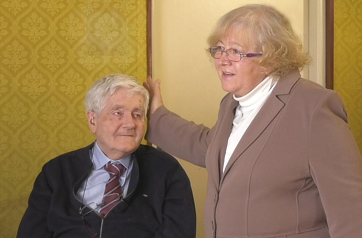 Püspöki Nagy Péter, feleségével