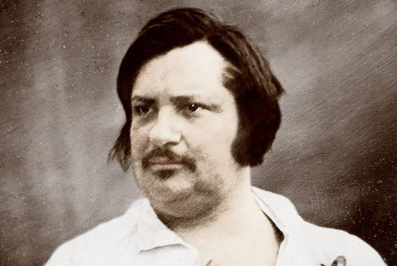 Daguerrotype of Honore de Balzac circa 1845, photo by Louis Auguste Bisson (Getty).