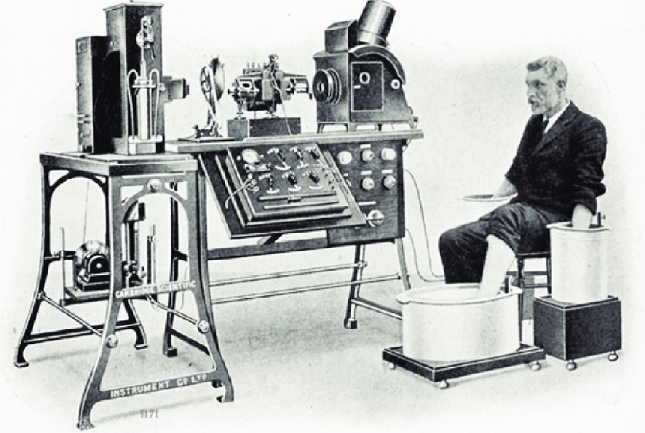 Picture-of-an-early-ECG-recording-performed-by-Willem-Einthoven-in-1903